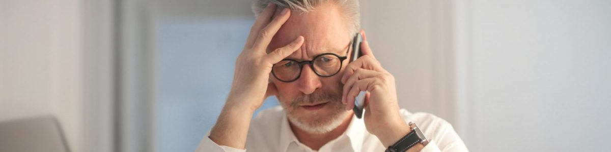 Man struggling with his company's Business Continuity